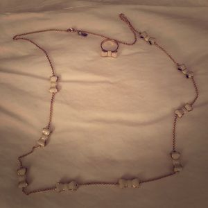 Kate Spade Gold & Ivory Bow Necklace & Ring